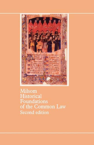 9780406625038: Historical Foundations Of The Common Law