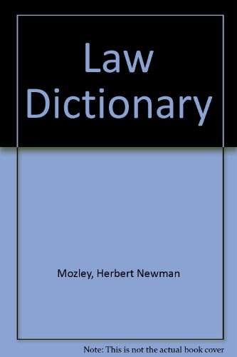 9780406625212: Law Dictionary