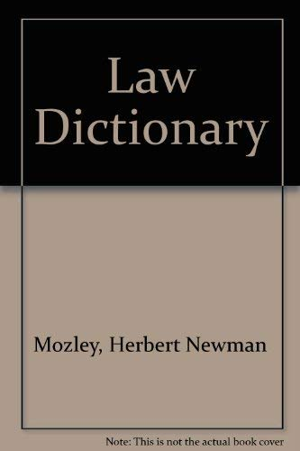 9780406625229: Law Dictionary