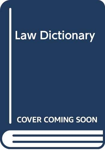 9780406625236: Law Dictionary