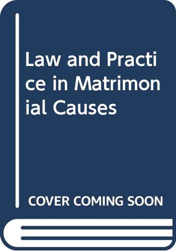 9780406637024: Law and Practice in Matrimonial Causes