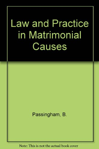 9780406637031: Law and Practice in Matrimonial Causes