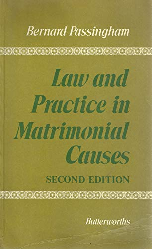 9780406637055: Law and Practice in Matrimonial Causes