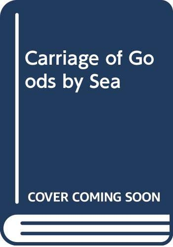 9780406640604: Carriage of Goods by Sea