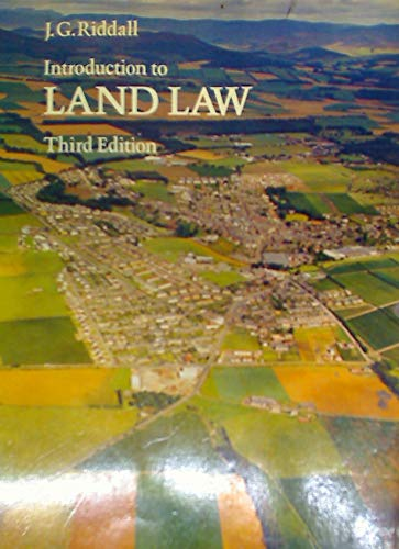 Introduction to Land Law: Riddall, J.G.