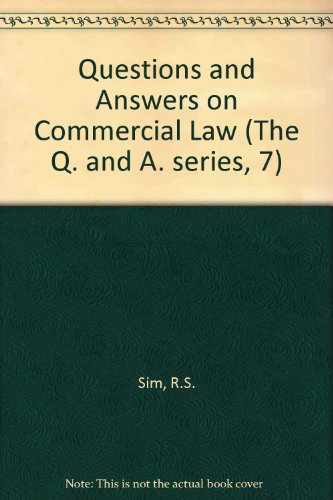 9780406654755: Questions and Answers on Commercial Law (The Q. and A. series, 7)