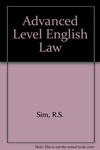 9780406657022: Advanced Level English Law