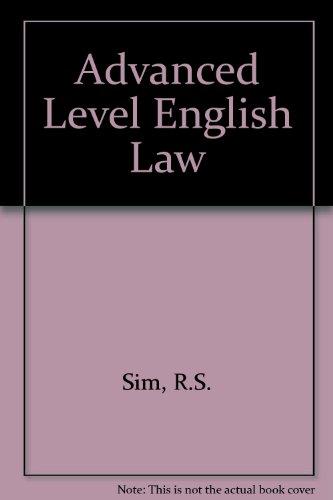 9780406657022: Advanced Level English Law