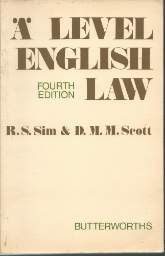 9780406657046: Advanced Level English Law