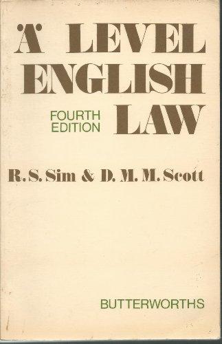 9780406657046: Advanced Level English Law