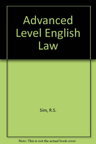 9780406657060: Advanced Level English Law