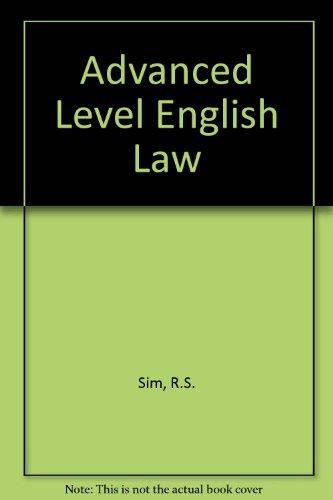 9780406657060: Advanced Level English Law