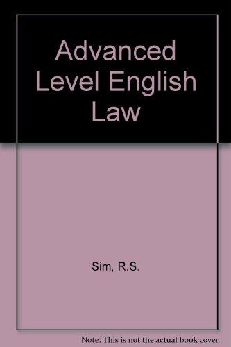 9780406657077: Advanced Level English Law