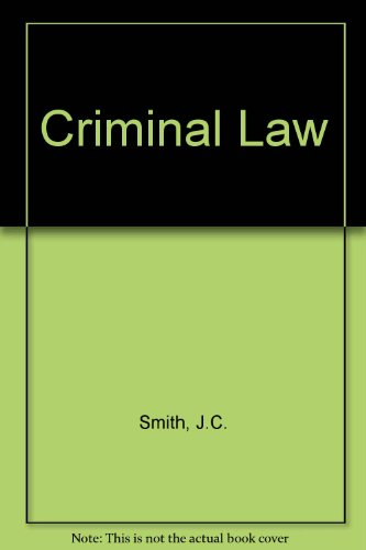 Criminal Law: Smith, J.C., Hogan,