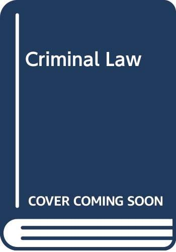 9780406658067: Criminal Law
