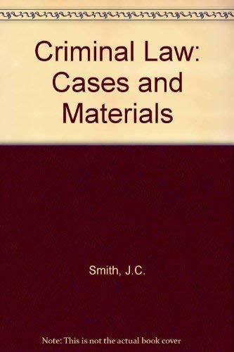 9780406658234: Criminal Law: Cases and Materials