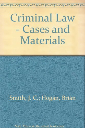 9780406658258: Criminal Law - Cases and Materials