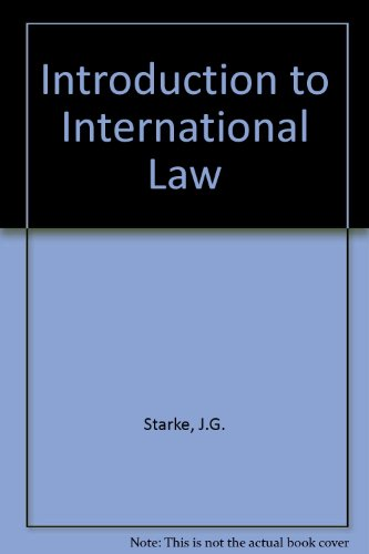 9780406659545: Introduction to International Law