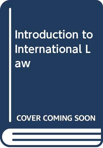 9780406659583: Introduction to International Law