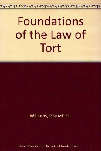 9780406683861: Foundations of the Law of Tort.