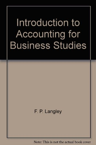 9780406750402: Introduction to Accounting for Business Studies