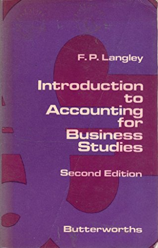 9780406750419: Introduction to Accounting for Business Studies