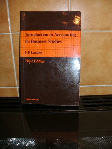 9780406750433: Introduction to Accounting for Business Studies