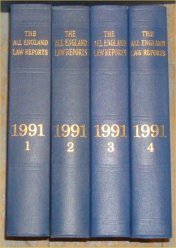 9780406851734: The All England Law Reports 1991 Vol 1 - 4
