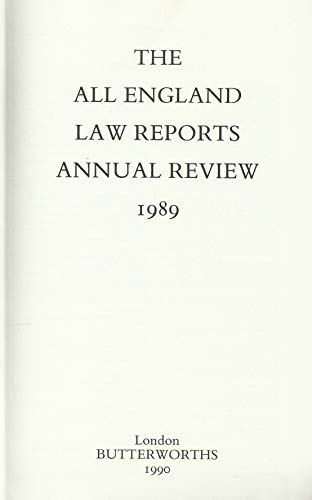 9780406863096: All England Law Reports: Annual Review 1989