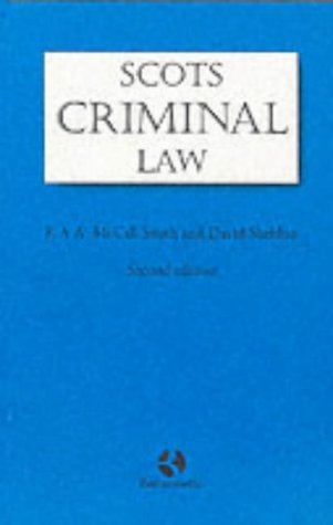 Scots Criminal Law (9780406891198) by Alexander McCall Smith; David Sheldon