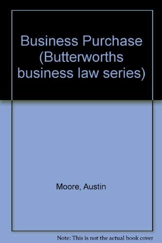 9780406895974: Business Purchase (Butterworths business law series)