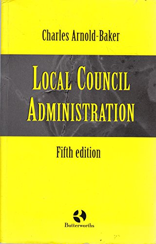 9780406896148: Local Council Administration