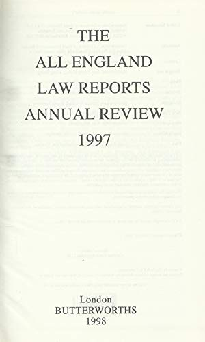 9780406901163: The All England Law Reports Annual Review 1997