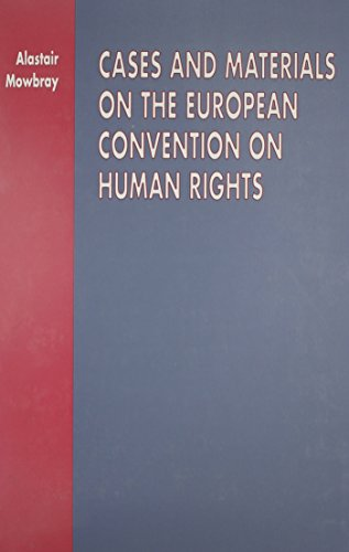 9780406903280: Cases and Materials on the European Convention on Human Rights