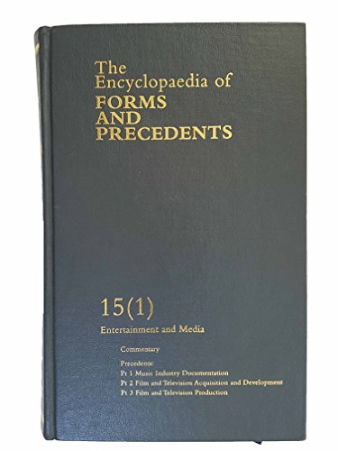 9780406903693: The Encyclopaedia of Forms and Precedents: Volume 15 (1)