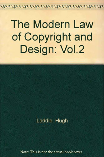 9780406903839: The Modern Law of Copyright and Design: Vol.2
