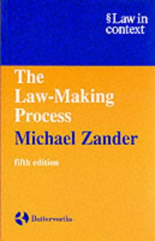 9780406904096: The Law Making Process 5E (Law in Context)