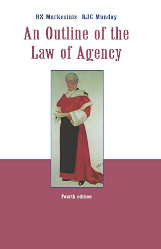 An Outline of the Law of Agency: Basil Markesinis, R.J.C.