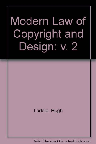 9780406905772: Modern Law of Copyright and Design: v. 2