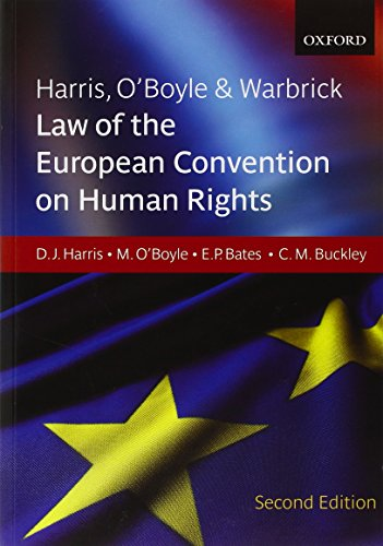 Harris, O'Boyle & Warbrick: Law of the: Harris, David, O'Boyle,