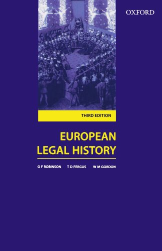 9780406913609: European Legal History: Sources and Institutions