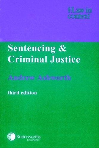 9780406914903: Sentencing and Criminal Justice