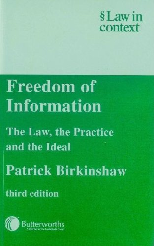 9780406914910: Freedom of Information 3E (Law in Context)