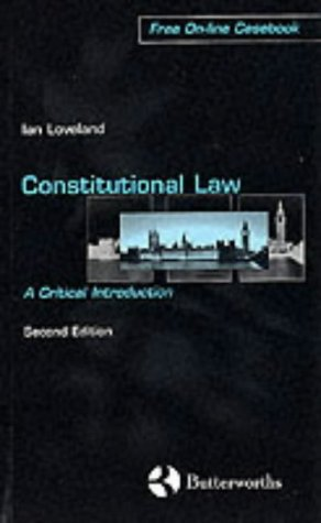 9780406915962: Constitutional Law: A Critical Introduction