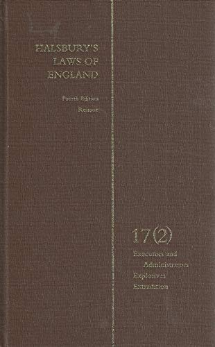 9780406920973: Halsbury's Laws of England 4th Edition Volume 17(2) Reissue
