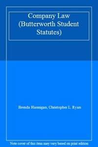 9780406922403: Company Law (Butterworth Student Statutes)
