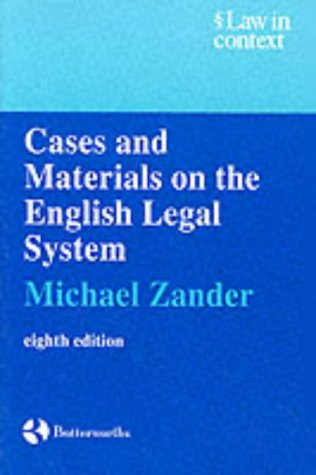 9780406925336: Cases And Materials: On The English Legal System