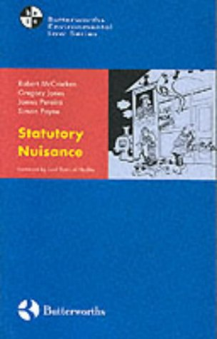 9780406926739: Statutory Nuisance Law and Practice (Butterworths environmental law series)
