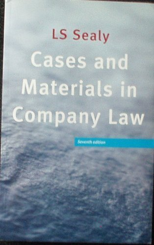 9780406929594: Cases and Materials in Company Law