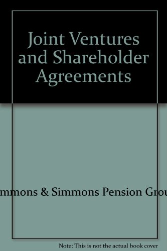 Joint Ventures and Shareholder Agreements: Simmons & Simmons